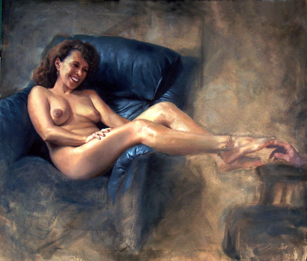 If you would like a nude portrait painting like the one which sold (above) ...